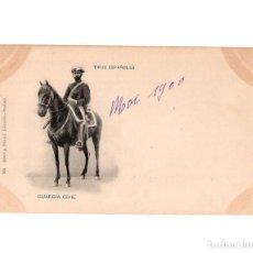 Postales: TIPOS ESPAÑOLES - GUARDIA CIVIL - ROMO Y FÚSSEL, LIBRERÍA.. Lote 148440270