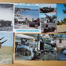Postales: 5 POSTALES DE CARROS DE COMBATE TANQUES ARMAS DE GUERRA. Lote 149264502
