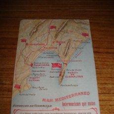 Postales: (ALB-TC-50) CURIOSA RARA POSTAL MILITAR GIBRALTAR INTERVENCIONES QUE MATAN CIRCULADA CON SELLO 1915. Lote 149604814