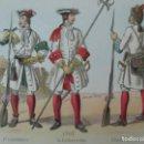 Postales: DÍPTICO - TARJETA POSTAL - POSTAL MILITAR - UNIFORMES ESPAÑOLES - FUSILERO, ALABARDA, GRANADERO 1707. Lote 149936702