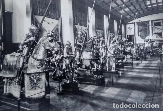 ARMADURAS SIGLO XVI. PALACIO REAL. REAL ARMERÍA. MADRID. POSTAL (Postales - Postales Temáticas - Militares)