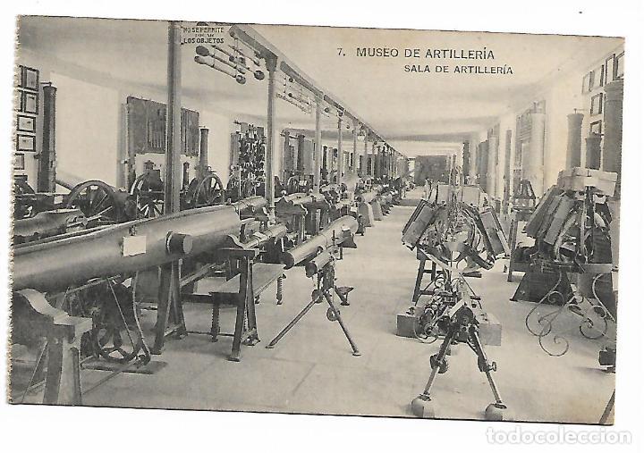 POSTAL SALA DE ARTILLERIA MUSEO DE ARTILLERIA FOTOTIPIA DE HAUSER Y MENET MADRID (Postales - Postales Temáticas - Militares)