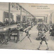Postales: POSTAL SALA DE ARTILLERIA MUSEO DE ARTILLERIA FOTOTIPIA DE HAUSER Y MENET MADRID. Lote 150442626