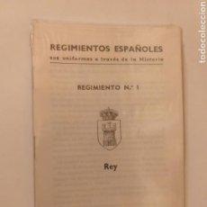 Postales: 18 POSTALES . REGIMIENTOS ESPAÑOLES SUS UNIFORMES A TRAVÉS DE LA HISTORIA 1ª SERIE CON FOLLETO. Lote 150479602