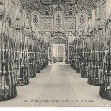 Postales: TARJETA POSTAL MUSEO DE ARTILLERIA - SALA DE ARMAS - FOTOTIPIA DE HAUSER Y MENET - MADRID -. Lote 151131998