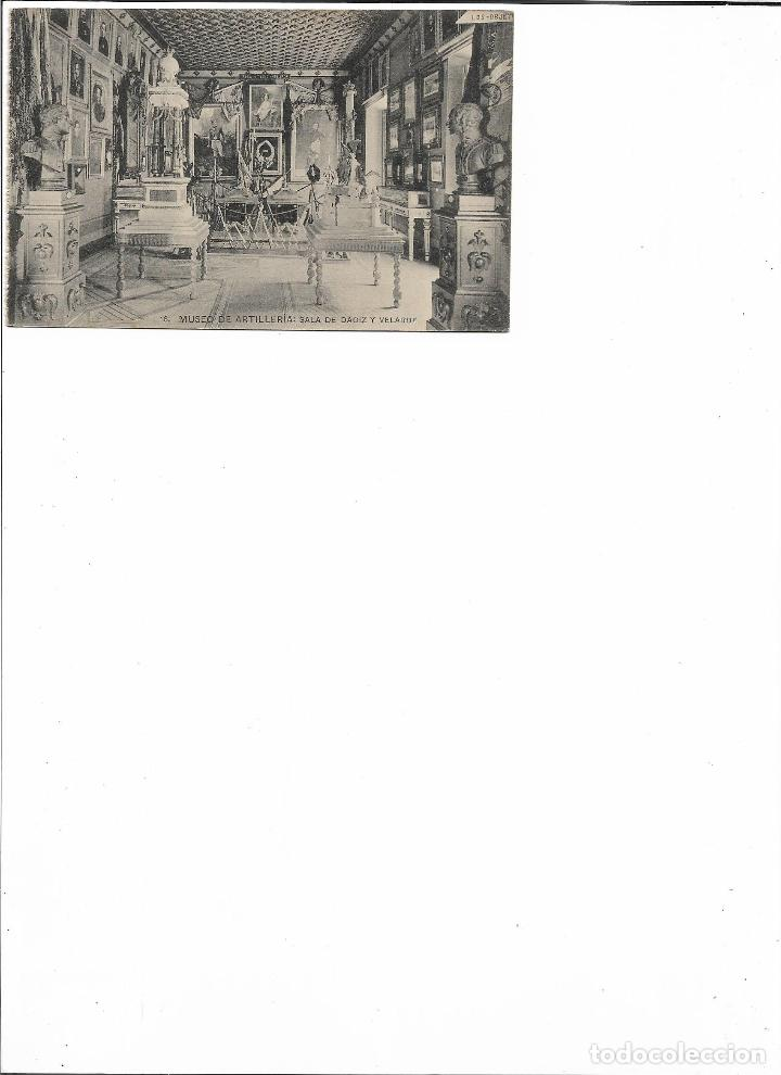 Postales: TARJETA POSTAL MUSEO DE ARTILLERIA SALA DE DAOIZ Y VALVERDE FOTOTIPIA DE HAUSER Y MENET MADRID - Foto 2 - 151225054