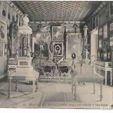 Postales: TARJETA POSTAL MUSEO DE ARTILLERIA SALA DE DAOIZ Y VALVERDE FOTOTIPIA DE HAUSER Y MENET MADRID. Lote 151225054