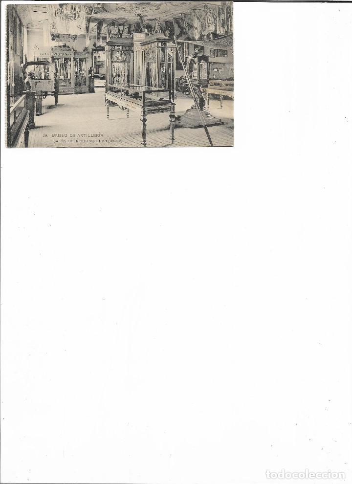 Postales: TARJETA POSTAL MUSEO DE ARTILLERIA SALON DE RECUERDOS HISTORICOS FOTOTIPIA DE HAUSER Y MENET - Foto 2 - 151226078
