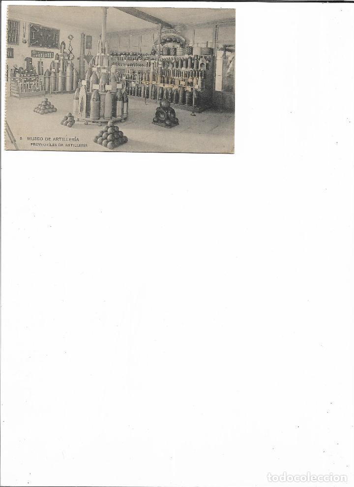 Postales: TARJETA POSTAL MUSEO DE ARTILLERIA PROYECTILES DE ARTILLERIA FOTOTIPIA DE HAUSER Y MENET MADRID - Foto 2 - 151263270