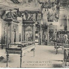Postales: TARJETA POSTAL MUSEO DE ARTILLERIA SALON DE RECUERDOS HISTORICOS FOTOTIPIA DE HAUSER Y MENET. Lote 151267014