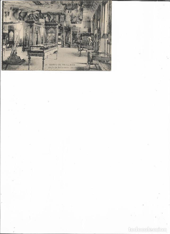 Postales: TARJETA POSTAL MUSEO DE ARTILLERIA SALON DE RECUERDOS HISTORICOS FOTOTIPIA DE HAUSER Y MENET - Foto 2 - 151267014