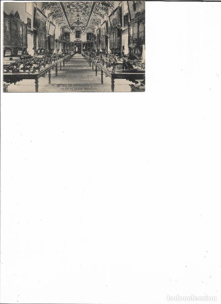 Postales: TARJETA POSTAL MUSEO DE ARTILLERIA SALON DE REINOS ( MODELOS ) FOTOTIPIA DE HAUSER Y MENET MADRID - Foto 2 - 151267766