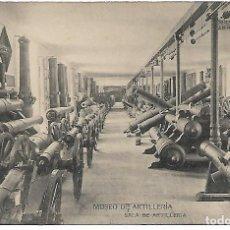 Postales: TARJETA POSTAL MUSEO DE ARTILLERIA SALA DE ARTILLERIA FOTOTIPIA DE HAUSER Y MENET MADRID. Lote 151268434