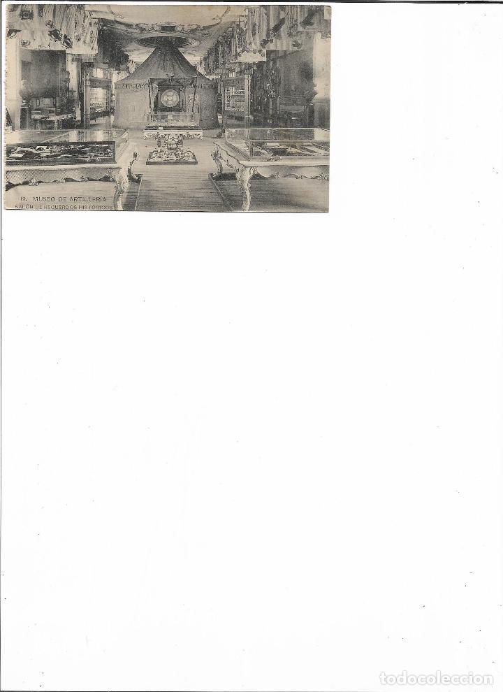 Postales: TARJETA POSTAL MUSEO DE ARTILLERIA SALON DE RECUERDOS HISTORICOS FOTOTIPIA DE HAUSER Y MENET - Foto 2 - 151270074