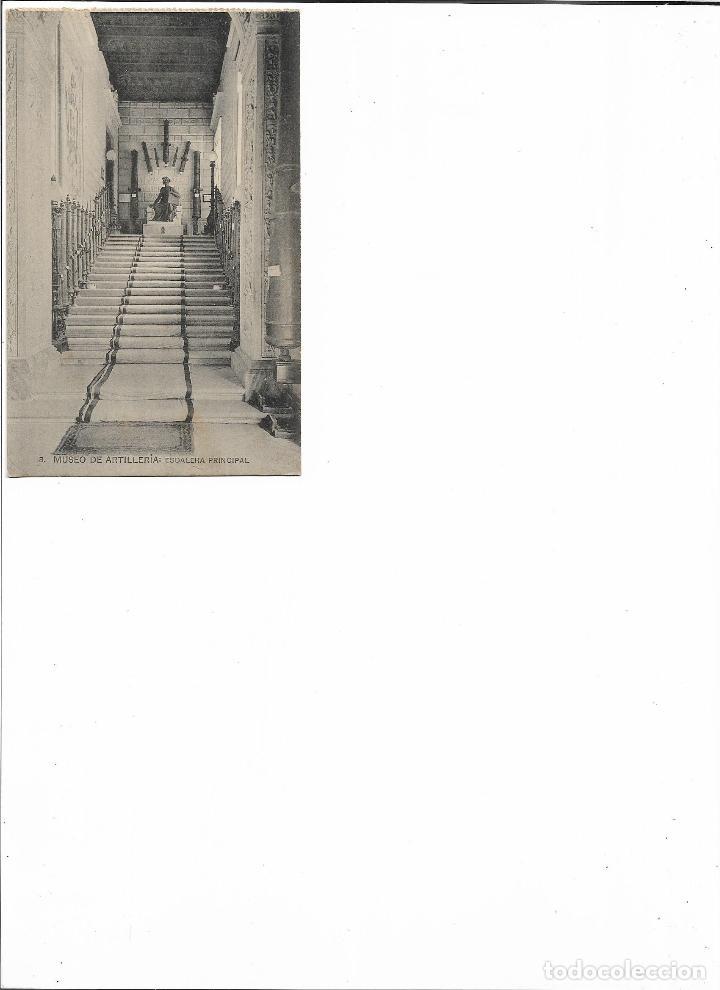 Postales: TARJETA POSTAL MUSEO DE ARTILLERIA ESCALERA PRINCIPAL FOTOTIPIA DE HAUSER Y MENET MADRID - Foto 2 - 151271202