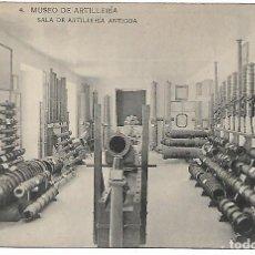 Postales: TARJETA POSTAL MUSEO DE ARTILLERIA SALA DE ARTILLERIA ANTIGUA FOTOTIPIA DE HAUSER Y MENET MADRID. Lote 151273218