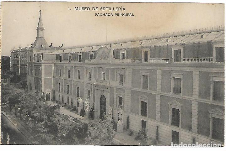 TARJETA POSTAL MUSEO DE ARTILLERIA FACHADA PRINCIPAL FOTOTIPIA DE HAUSER Y MENET MADRID (Postales - Postales Temáticas - Militares)