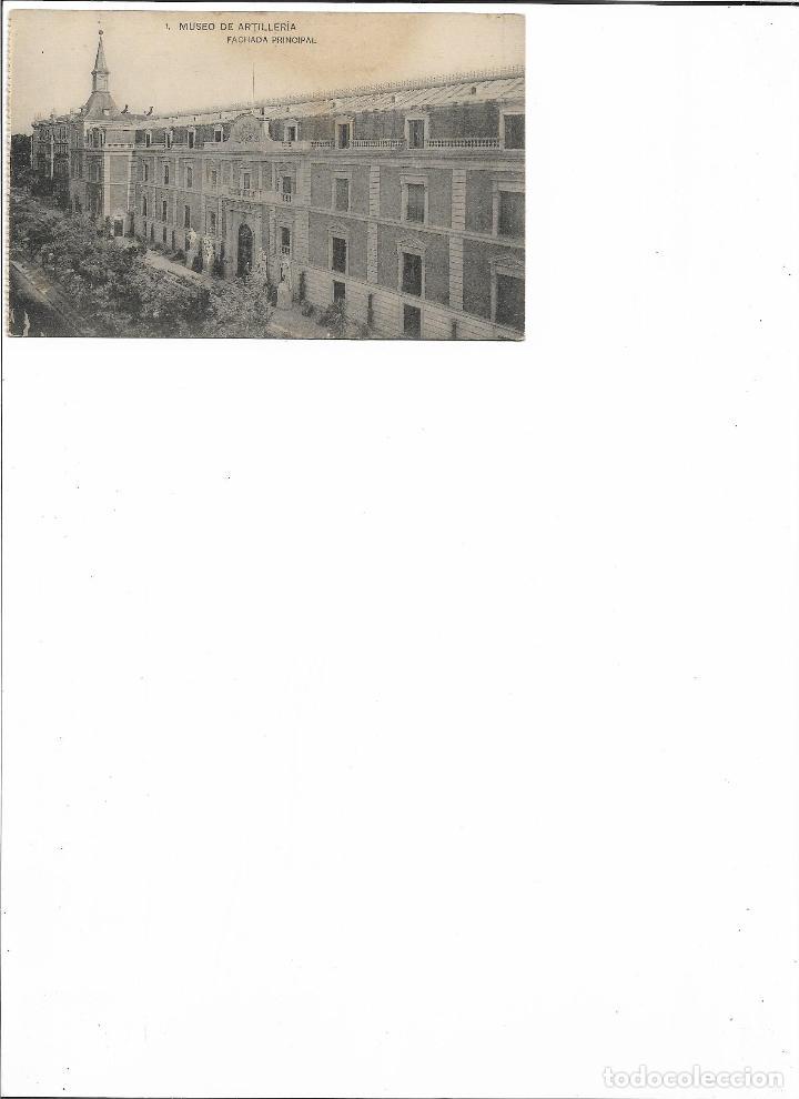 Postales: TARJETA POSTAL MUSEO DE ARTILLERIA FACHADA PRINCIPAL FOTOTIPIA DE HAUSER Y MENET MADRID - Foto 2 - 151273910
