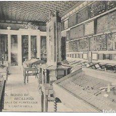 Postales: TARJETA POSTAL MUSEO DE ARTILLERIA SALA DE PLANTILLAJE Y CARTUCHERÍA FOTOTIPIA DE HAUSER Y MENET . Lote 151276042