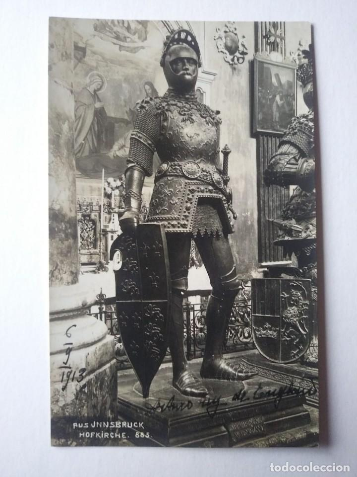 1913 Hall Tirol. Armadura. Postales militares - 140879822