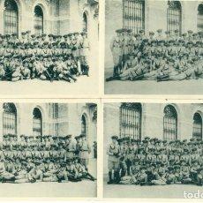 Postales: ZARAGOZA ACADEMIA GENERAL MILITAR.LOTE DE 4 POSTALES CON CADETES. HACIA 1928. . Lote 152452786