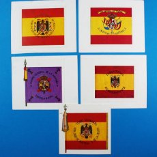 Postales: LOTE 5 RECORTES O CROMOS,TERCIO SAHARIANO,S ANTONIO BAÑOS,PARACAIDISTAS,REGIMIENTO Nº 2,ESCUEA NAVAL. Lote 152623718