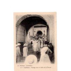 Postales: GUERRA DE MARRUECOS. CASABLANCA Nº 16. JH BOUSSUGE.- PASSAGE SOUS LA VOUTE DE LA DOUANE. Lote 154247238