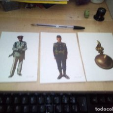 Postales: LOTE DE 3 POSTALES MILITAR. UNIFORMES ESPAÑOLES. AÑO 1976.. Lote 155200442