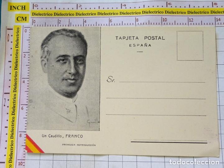 POSTAL POLÍTICO MILITAR. AÑOS 30 50. UN CAUDILLO FRANCO. 2304 (Postales - Postales Temáticas - Militares)