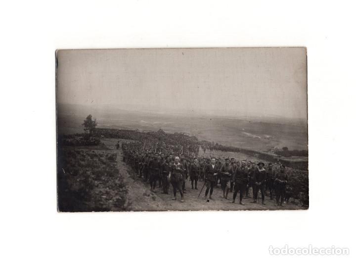 GUERRA DEL RIF. POSTAL FOTOGRÁFICA.- CONVOY REGIMIENTO BADAJOZ 1925 (Postales - Postales Temáticas - Militares)