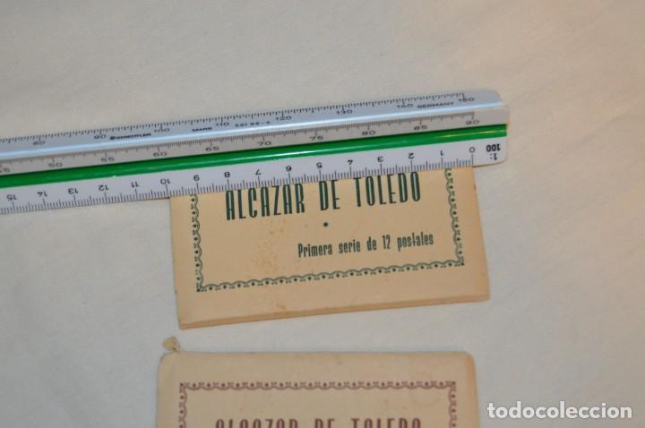 Postales: SET DE PRIMERA Y SEGUNDA SERIE DE POSTALES DEL ALCAZAR DE TOLEDO - MUY ANTIGUAS - RARAS - ENVÍO 24H - Foto 4 - 201659130