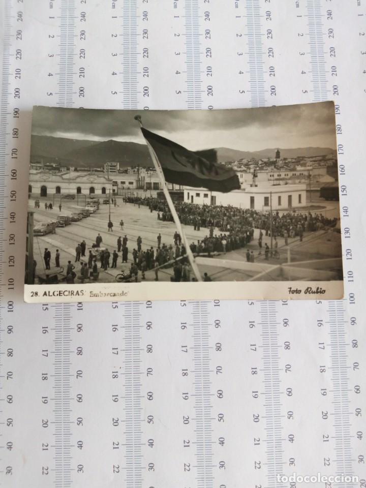 'ALGECIRAS' EMBARCANDO EN EL TRANSBORDADOR 'VIRGEN DE AFRICA TROPAS REGULARES CON INTRAHISTORIA (Postales - Postales Temáticas - Militares)