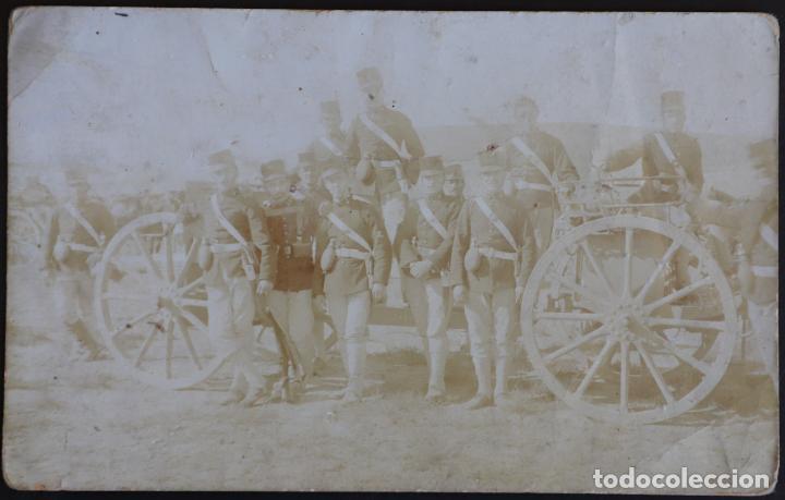 BATALLÓN MILITAR - AÑO 1911 - CIRCULADA DESTINATARIO LÉRIDA (LLEIDA) - CARRO CON CAÑÓN (Postales - Postales Temáticas - Militares)