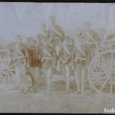 Postales: BATALLÓN MILITAR - AÑO 1911 - CIRCULADA DESTINATARIO LÉRIDA (LLEIDA) - CARRO CON CAÑÓN . Lote 165120226
