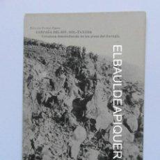 Postales: CAMPAÑA DEL RIF 1921 TAXUDA COLUMNA DESCENDIENDO DE LOS PICOS GURUGU. HAUSER Y MENET. CCTT. Lote 165340246