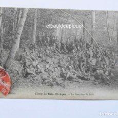 Postales: CAMP DE BOIS-L'EVEQUE. LA POSE DANS LE BOIS. CIRCULADA. CCTT. Lote 165847526