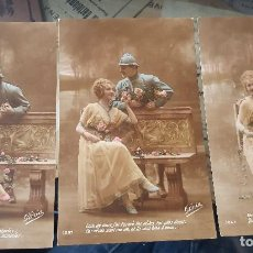 Postales: ANTIGUAS POSTALES MILITARES ROMANTICAS 1 GUERRA MUNDIAL SERIE . Lote 166292370
