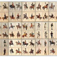 Postales: LOTE 76 POSTALES UNIFORMES REGIMIENTOS MILITARES A TRAVÉS DE LA HISTORIA VER TODAS. Lote 166959192