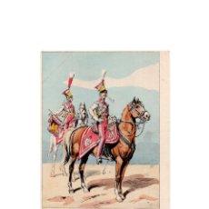 Postales: LES UNIFORMES DU PREMIER EMPIRE. LANCIERS POLONAIS DE LA GARDE. TROMPETTE.. Lote 167010000