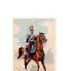 Postales: LES UNIFORMES DU PREMIER EMPIRE. LANCIERS POLONAIS DE LA GARDE. OFFICIER SUBALTERNE.. Lote 167010344