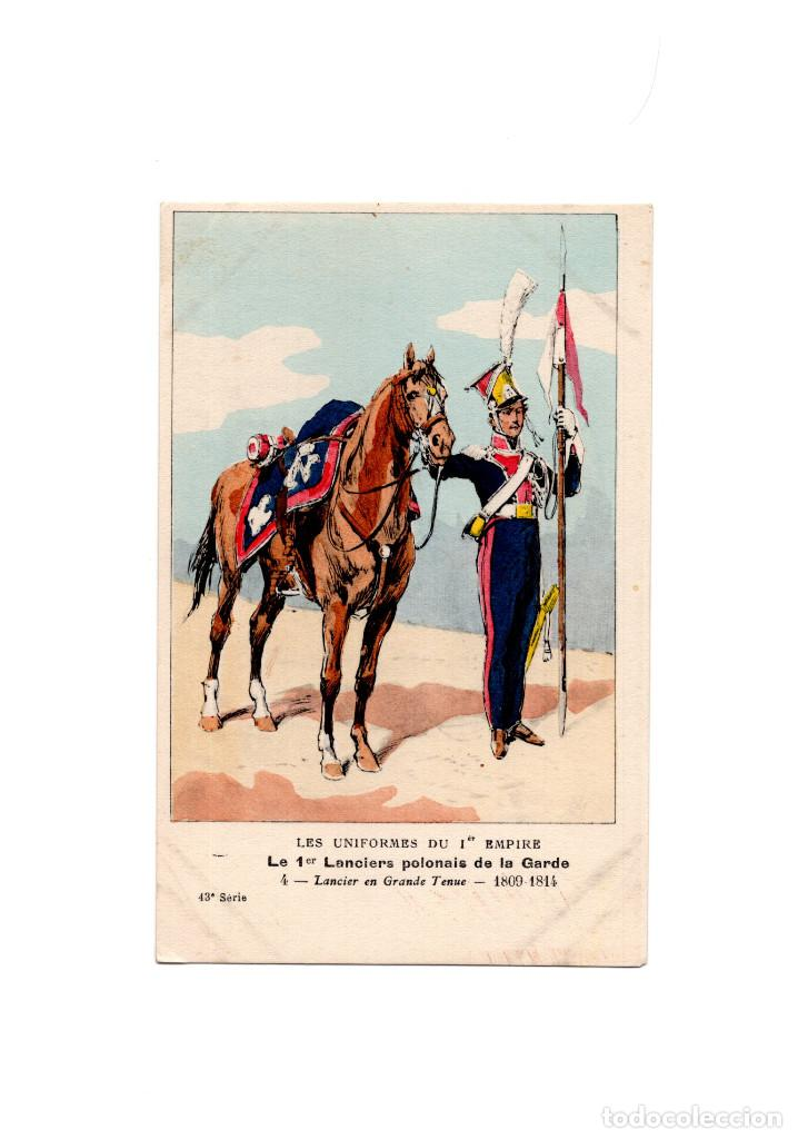 LES UNIFORMES DU PREMIER EMPIRE. LANCIERS POLONAIS DE LA GARDE. LANCIER (Postales - Postales Temáticas - Militares)