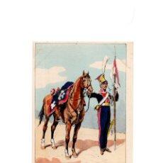 Postales: LES UNIFORMES DU PREMIER EMPIRE. LANCIERS POLONAIS DE LA GARDE. LANCIER. Lote 167010516