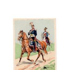 Postales: LES UNIFORMES DU PREMIER EMPIRE. LANCIERS POLONAIS DE LA GARDE. TROMPETTE. Lote 167010604