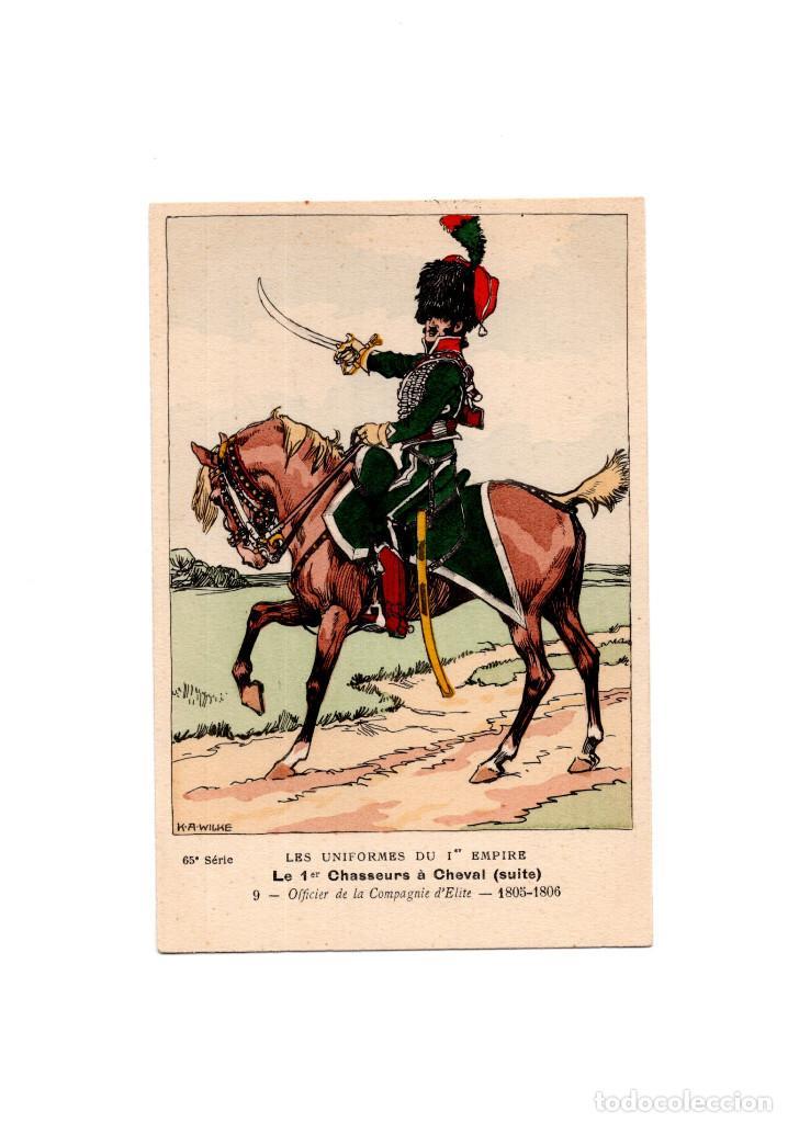 LES UNIFORMES DU PREMIER EMPIRE. LE 1º CHASSEURS Á CHEVAL. SUITE. (Postales - Postales Temáticas - Militares)