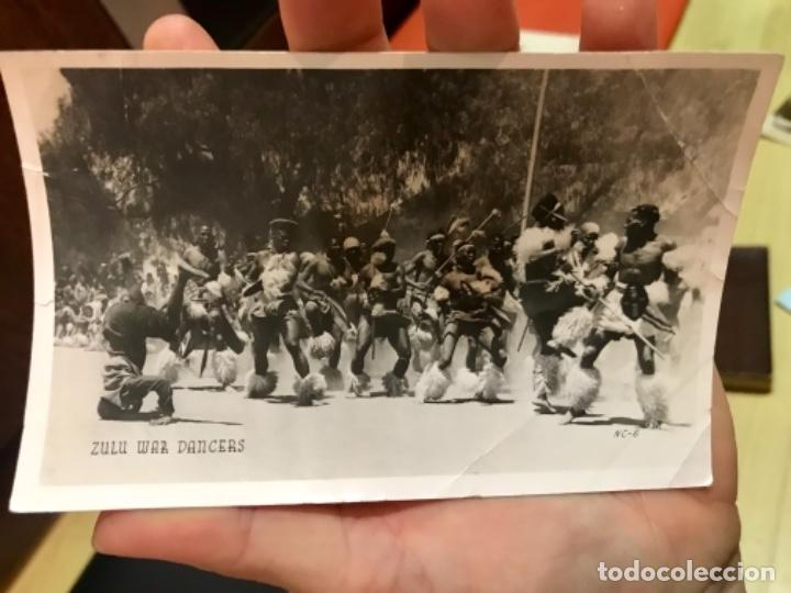 Postales: fotografica zulu war dancers surafrica guerra inglaterra zulu tribu batalla africanos nativos - Foto 2 - 168404096