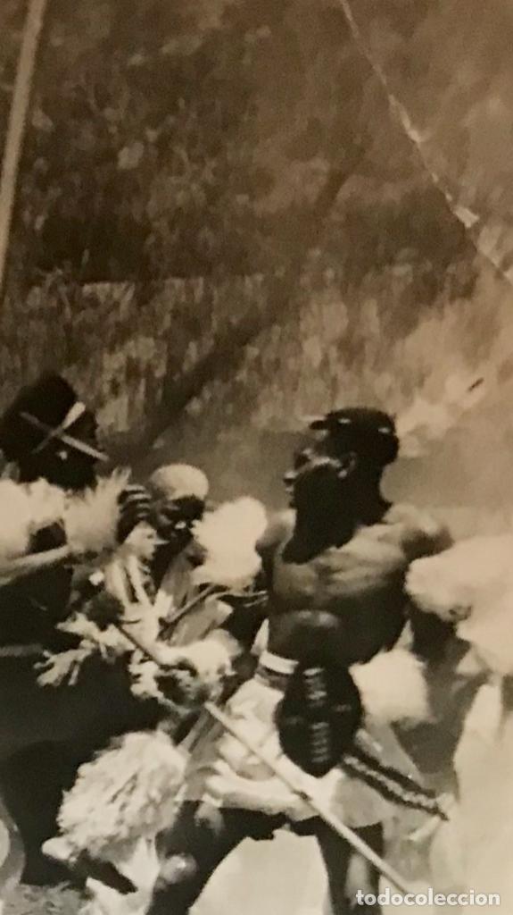 Postales: fotografica zulu war dancers surafrica guerra inglaterra zulu tribu batalla africanos nativos - Foto 5 - 168404096