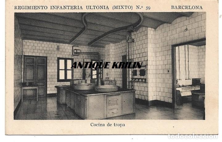 BARCELONA .- REGIMIENTO INFANTERIA ULTONIA Nº 59, COCINA TROPA .- F.MESAS