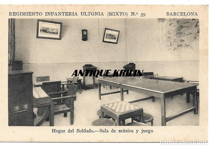 Barcelona Regimiento Infanteria Ultonia Nº 59 Sala Musica Y Juegos F Mesas