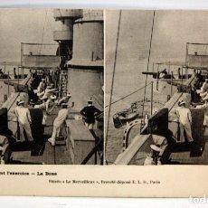 Postales: POSTALESTEREOSCOPICA - MILITAR DE FRANCESA - PENDANT L'EXERCICE - LA BOXE - SIN CIRCULAR. Lote 173190769