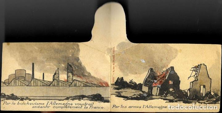 Postales: CURIOSA POSTAL DÍPTICO * PAR LE BOLCHEVISME LALLEMAGNE VOUDRAIT ANÉANTIR LA FRANCE *.... - Foto 2 - 173989700